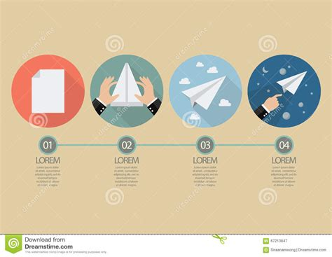 Paper Folding Rocket - process of folding the rocket paper stock vector