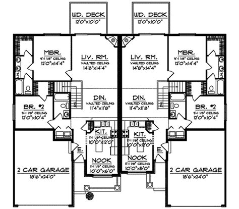 ranch duplex floor plans country brook ranch duplex plan 051d 0587 house plans and more