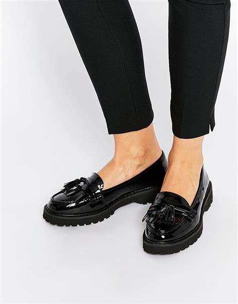 Trim Patent Flat Sandal By Asos by River Island River Island Black Patent Chunky Tassel