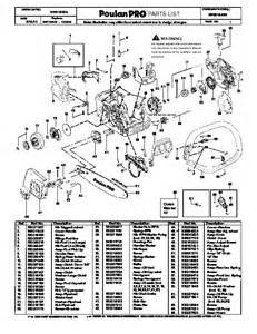 pin poulan chain saw carburetors and service parts model