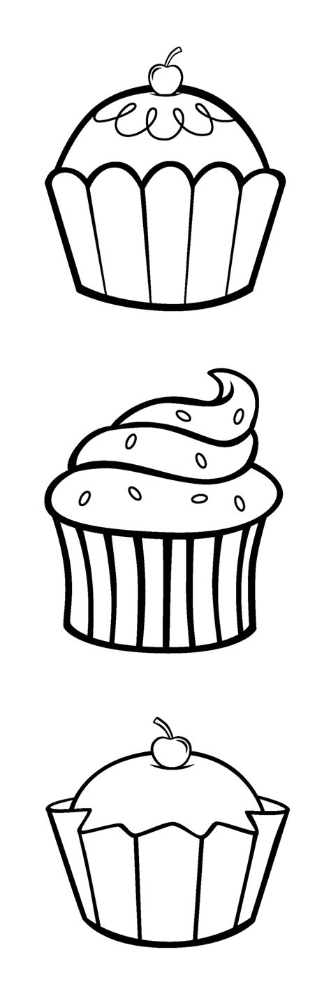 easy cupcake coloring pages if you can print this pic of cupcakes cuz their easy and