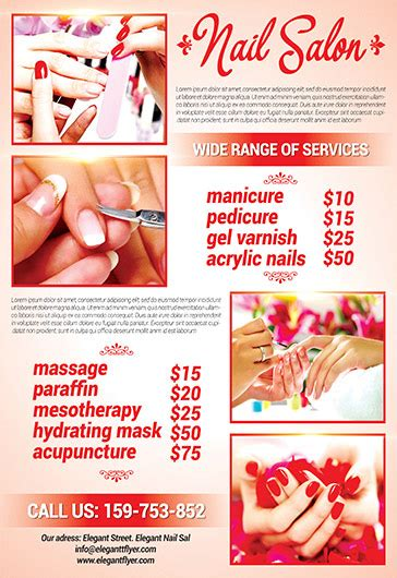 nail salon flyer psd template facebook cover by