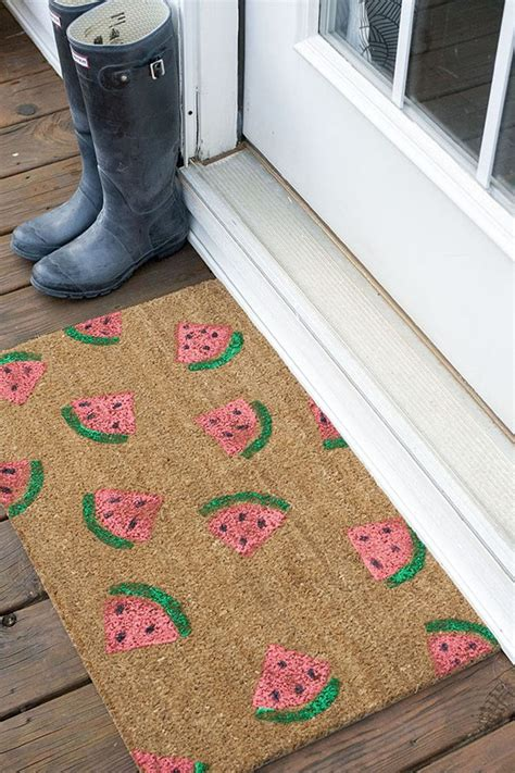 Diy Mat by Welcome Summer With A Diy Sted Watermelon Doormat
