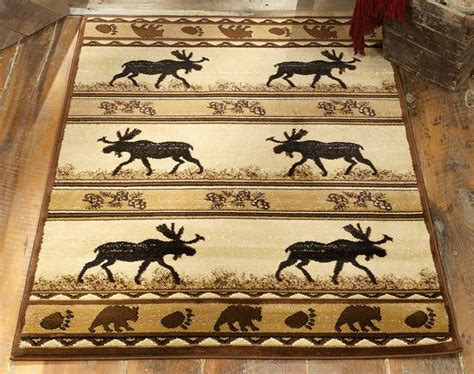 cabin decor rugs moose silhouette rug collection cᗋᏰᎥɲ silhouette moose and cabin