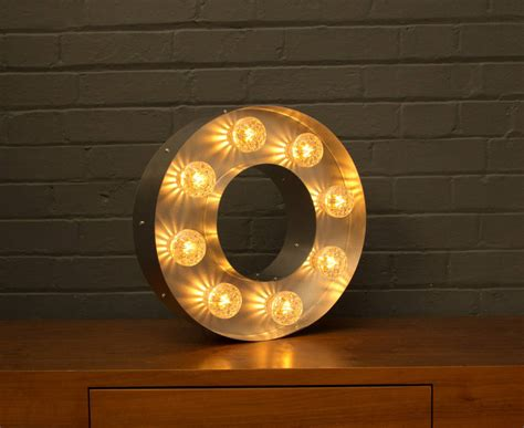 light up marquee bulb letters o by goodwin goodwin