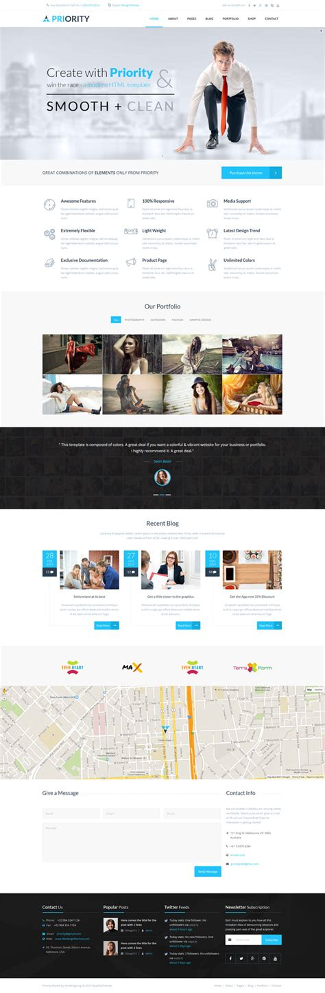 home page design layout priority html5 multipurpose template