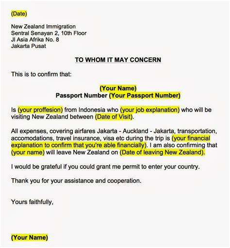 Persyaratan Membuat Visa New Zealand | contoh surat pernyataan sponsor visa contoh kr