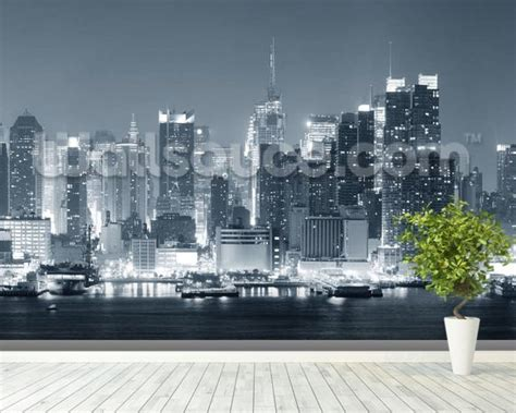 manhattan wall mural manhattan black white panoramic wall mural manhattan black white panoramic wallpaper