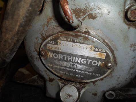 vintage worthington air compressor      bid