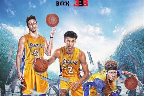 big brand big baller brand is photoshopping the entire family as lakers into existence