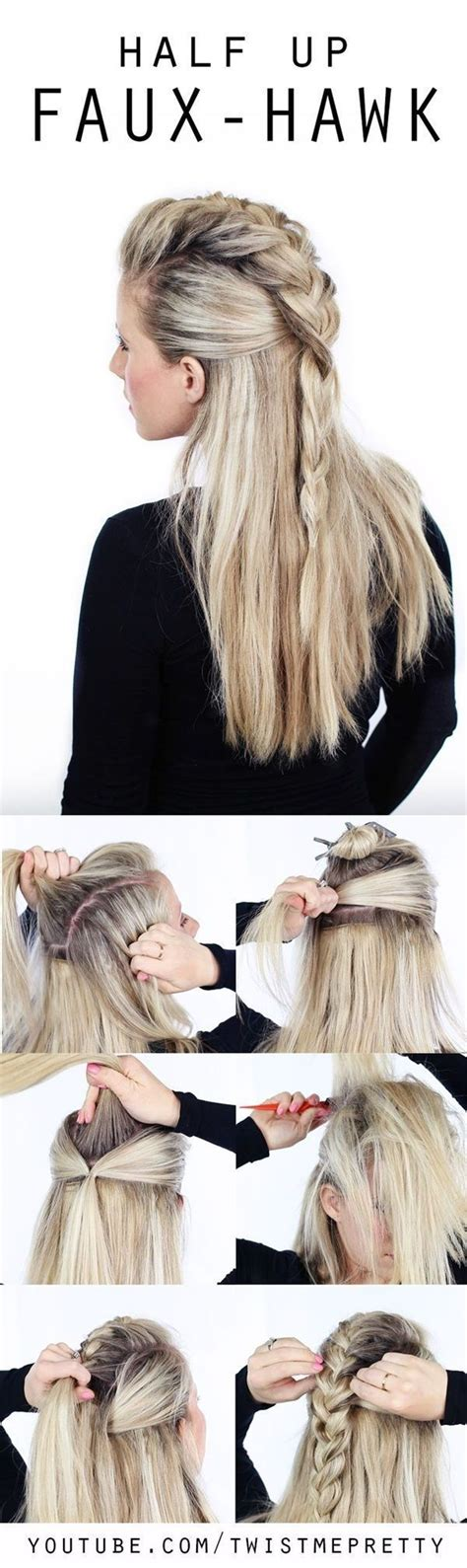 quick and easy edgy hairstyles 25 beautiful women s faux hawk ideas on pinterest quick
