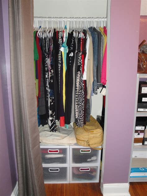 small closet small organized closet pictures