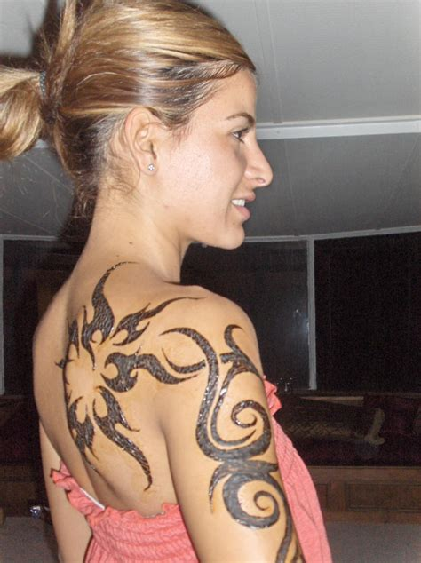 women tribal tattoos bridal and fashion designs tribal for