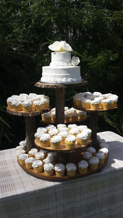 Cupcake Stand Stand Cake rustic cupcake stand log cupcake stand tree cupcake
