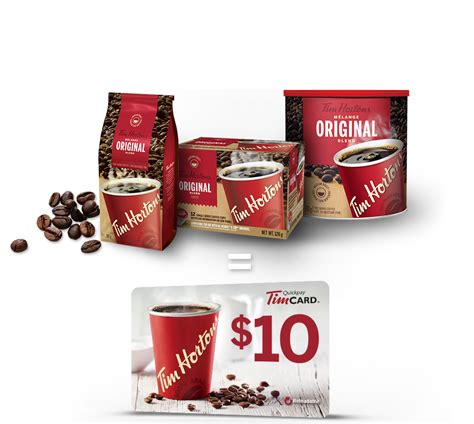 Tim Hortons Gift Card Balance Check - tim hortons the gift of coffee receive a 10 tim card 174