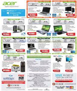 Desktop Computer Price List Acer Desktop Pc Notebook Systems Price List Offers 11