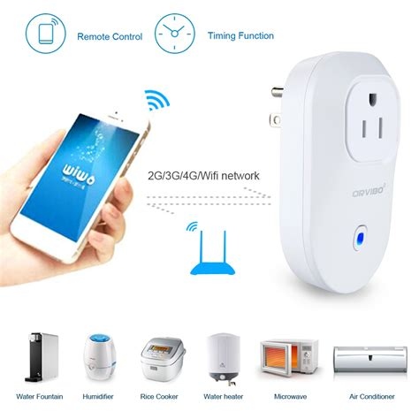 smartphone controlled outlet wireless wifi smart cellphone app remote control power