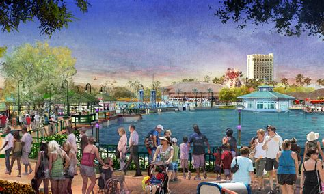 the progression of disney springs orlando and food
