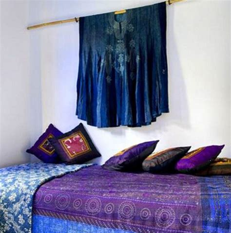 moroccan style bedroom  sapphire blue  violet