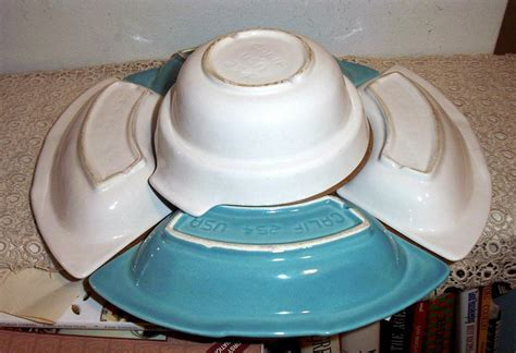 Lazy Susan Turquoise And White California Pottery 254 from