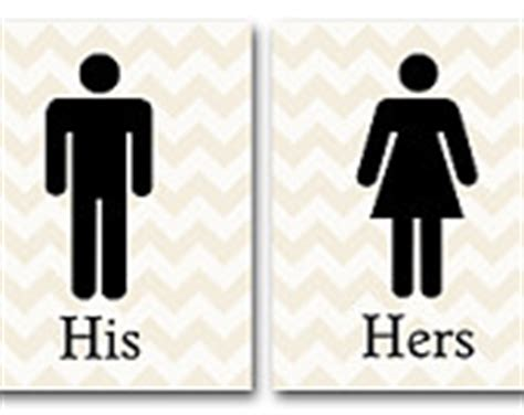 items similar to his hers bathroom signs value pack