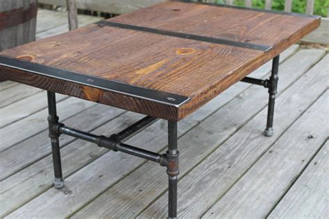 Pipe Leg Table by Pipe Leg Coffee Table Industrial Coffee Table By