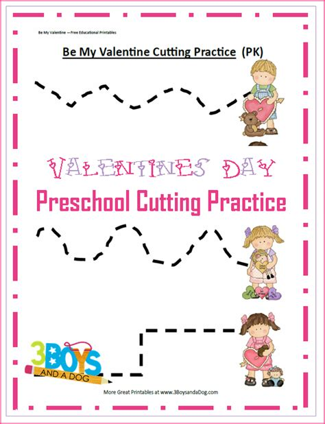 free printable preschool valentine worksheets valentine preschool cutting practice printable worksheets