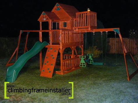 sky fort swing set selwood products sky fort installation climbing frame