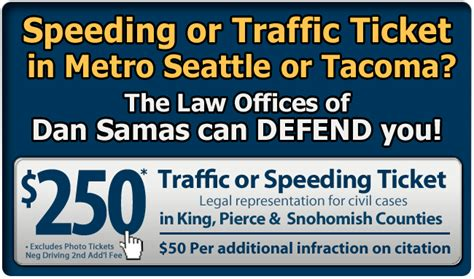 Will A Speeding Ticket Show Up On My Background Check Seattle Tacoma Traffic And Speeding Ticket Attorney Lawyer Dan Samas Washington Wa