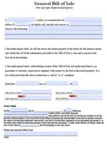 Bill Of Sale Template Ri by Free General Blank Bill Of Sale Pdf Template Word