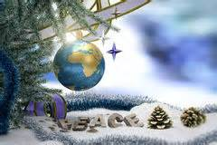 christmas world peace ornaments stock illustration illustration  festive globe