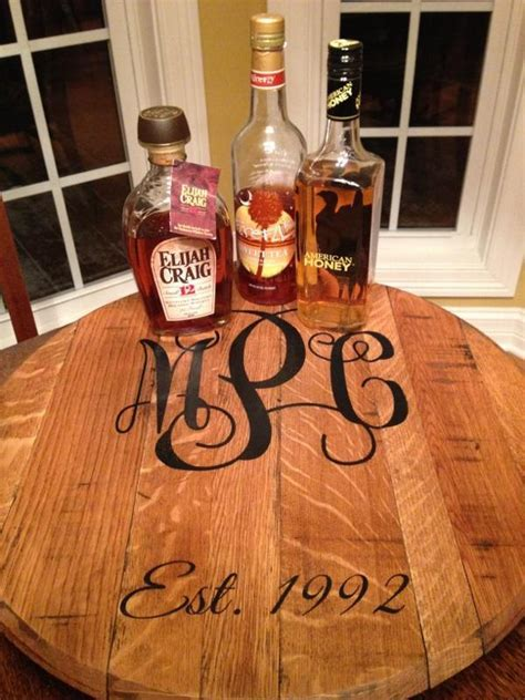 Personalized bourbon barrel Lazy Susan ? Great Wedding Gift!