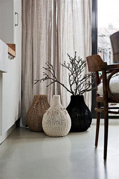 Knitting Home Decor 24 Floor Vases Ideas For Stylish Home D 233 Cor Shelterness