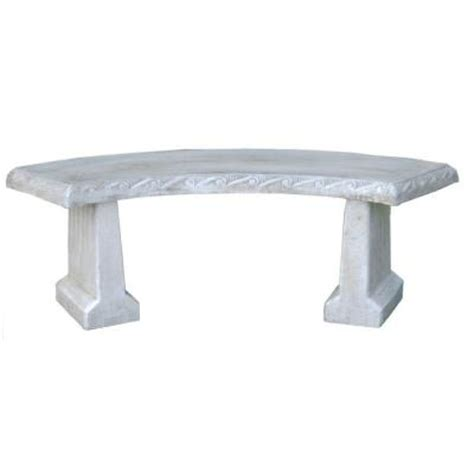 concrete benches home depot athens stonecasting genteel estate bench 01 912213bu the home depot