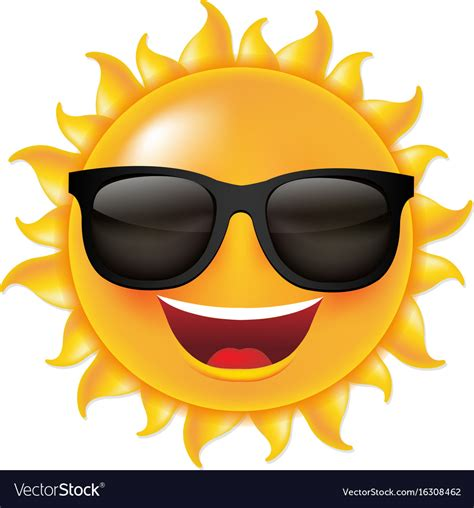 clipart sole sun with sunglasses royalty free vector image vectorstock