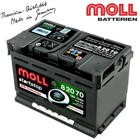 Auto Moll by Baterie Auto Moll Start Stop Efb 82070 70ah Baterii Auto