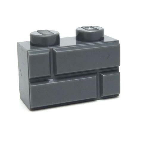 New Sale Lego Brick 1x2 Grey Part Brick lego spare parts brick 1x2 modified with masonry profile bluish gray