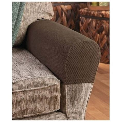 fitted armchair covers armrest covers stretchy 2 piece set chair or sofa arm protectors stretch to fit ebay