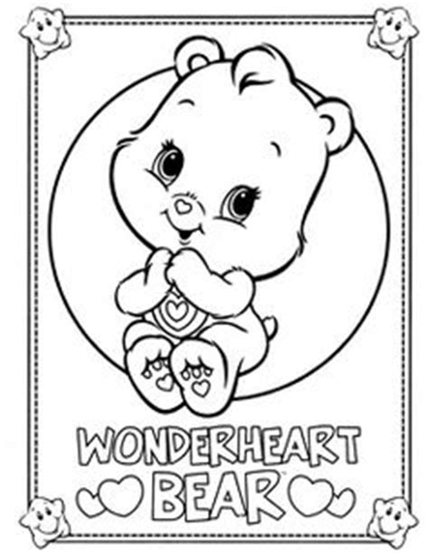 wonderheart bear coloring pages 1000 images about care bears on pinterest care bears