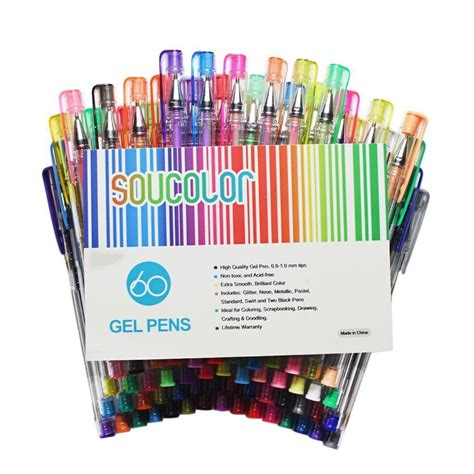 gel coloring pens soucolor gel pens for coloring books set of 60