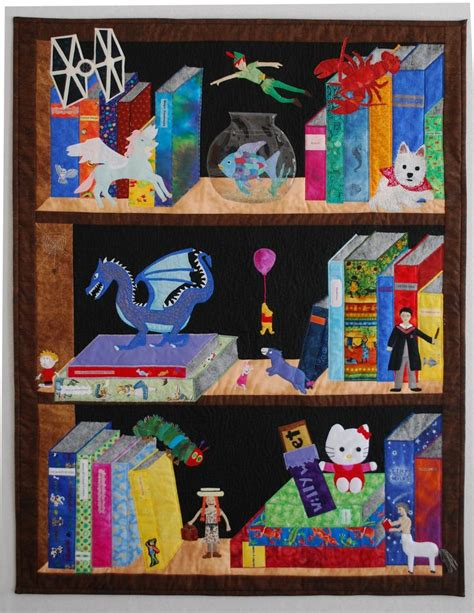 quilt pattern bookshelf 164 best bookshelf quilts images on pinterest appliques