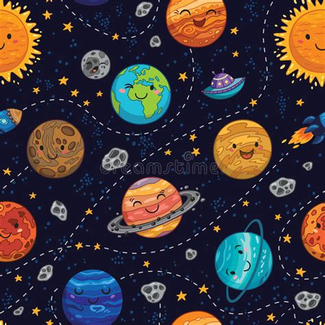 space pattern background free seamless space pattern background with planets stars and