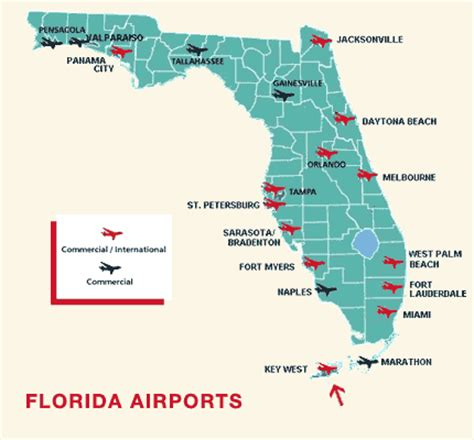 map of florida airports map of major airports in florida my
