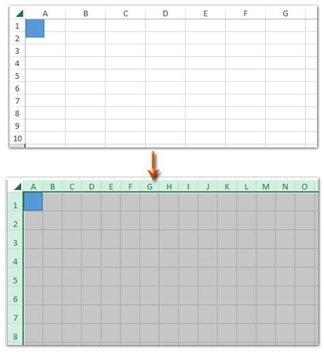 Make Grid Paper - how to create grid paper square template in excel
