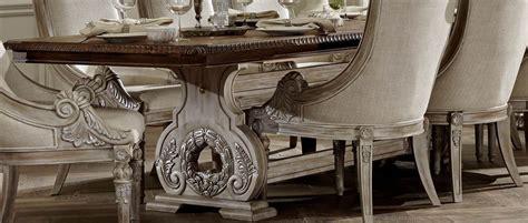 white wash dining room set orleans ii white wash extendable trestle dining room set