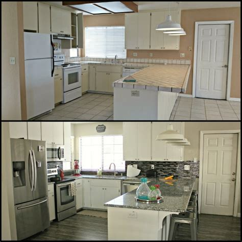 our exciting kitchen makeover before and after green 24 perfect kitchen makeovers before and after thaduder com