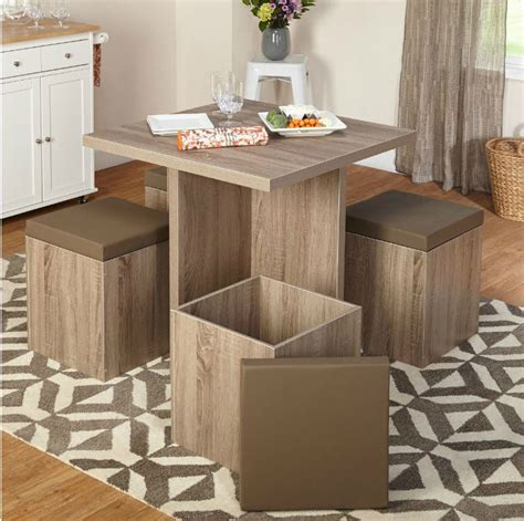 small space kitchen table dining table set compact small kitchen space saver chairs