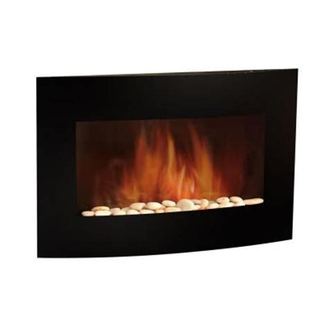 quality craft 35 in electric wall mount fireplace in