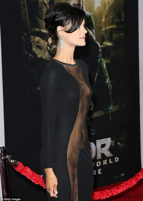 Most Revealing Wardrobe by Jaimie Attends Thor Premiere In Extremely