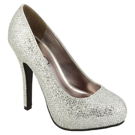 s silver high heel shoes out with kmart